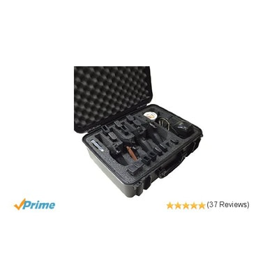Amazon.com : Case Club Waterproof 4 Pistol Case with Accessory Pocket & Silica G