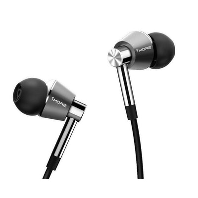 1MORE Triple Driver In-Ear Headphones with In-line Mic and Remote (Titanium)   |
