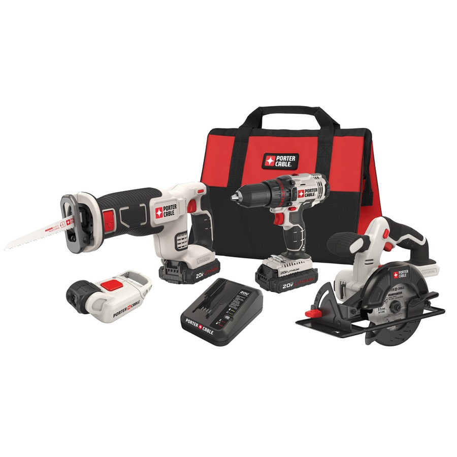 PORTER-CABLE 4-Tool 20-Volt Max Lithium Ion (Li-ion) Cordless Combo Kit