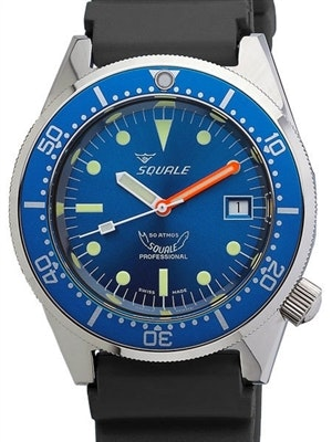 Squale 500 Meter Swiss Made Automatic Dive Watch with Blue Dial  #1521-026-BLR