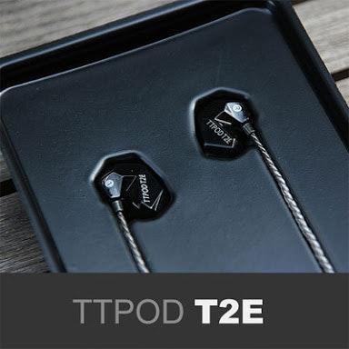 TTPOD T2E Triple-Driver Hybrid 2 Balanced Armature + Dynamic Hi-End HiFi In-Ear