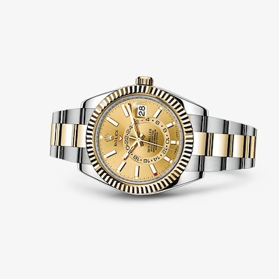Rolex Sky-Dweller Watch: Yellow Rolesor - combination of 904L steel and 18 ct ye