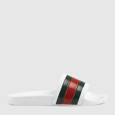 Gucci White Slide