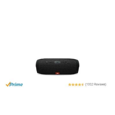 JBL Charge 3 JBLCHARGE3BLKAM Waterproof Portable Bluetooth Speaker (