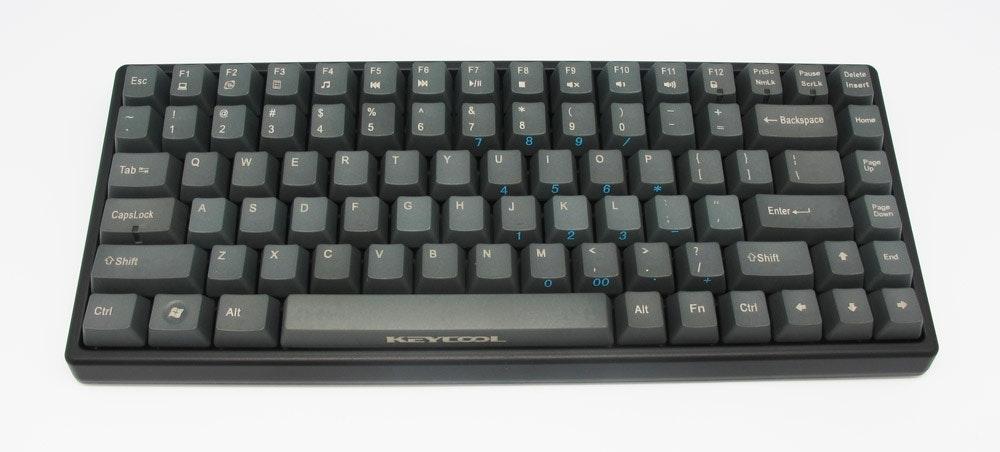 Keycool Grey Version 84 - Key TKL Mechanical Keyboard w/ PBT Caps (Brown Cherry