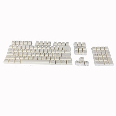 104 Keys Double Shot PBT Solid Colour Keycaps for Cherry MX Mechanical Keyboard