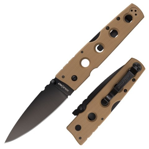 Hold Out 2 Plain Edge Coyote Tan by Cold Steel