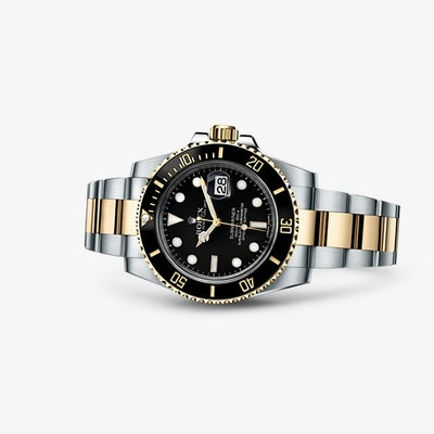 Rolex Submariner Date Watch: Yellow Rolesor - combination of 904L steel and 18 c