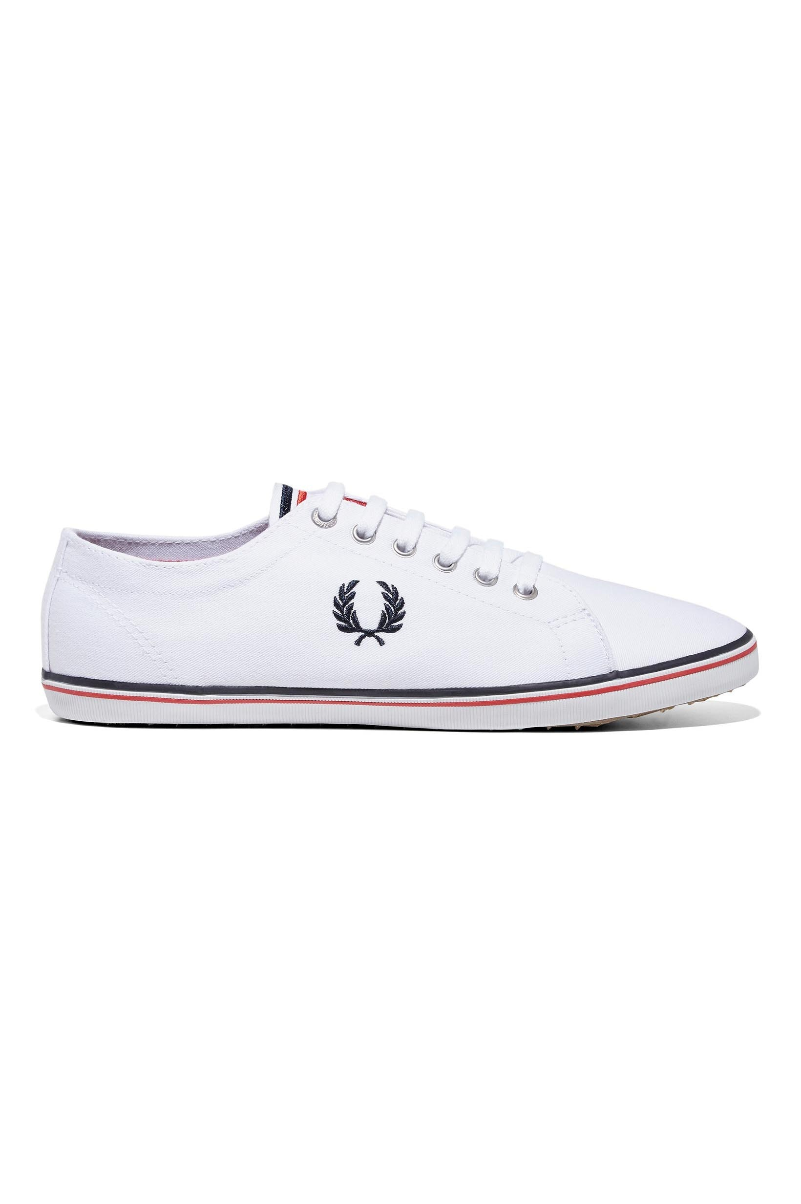 Fred Perry - Kingston Twill White  /  Navy  /  England Red