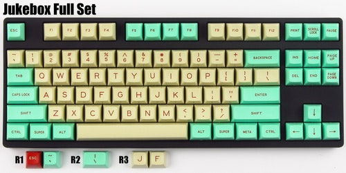 SA Jukebox Keycap Set - Pimpmykeyboard.com