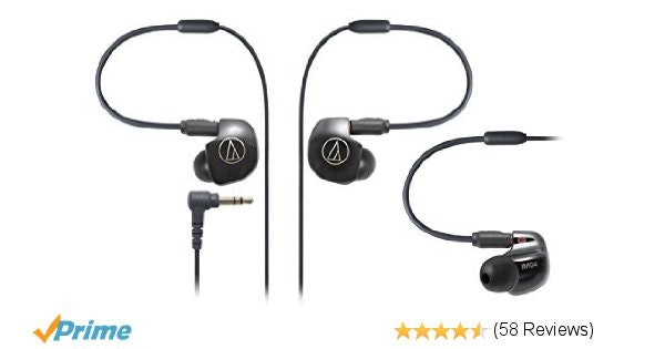 Amazon.com: Audio Technica ATH-IM04 SonicPro Balanced In-Ear Monitor Headphones:
