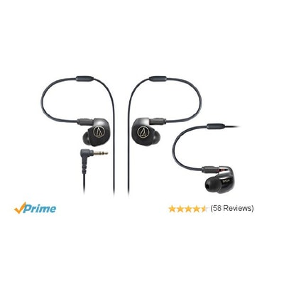 Amazon.com: Audio Technica ATH-IM04 SonicPro Balanced In-Ear Monitor Headphones: