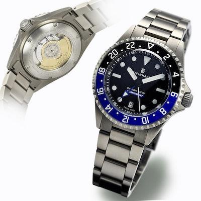 STEINHART Ocean Titanium 500 GMT Premium | Taucheruhr bis 50 ATM   - Steinhartwa