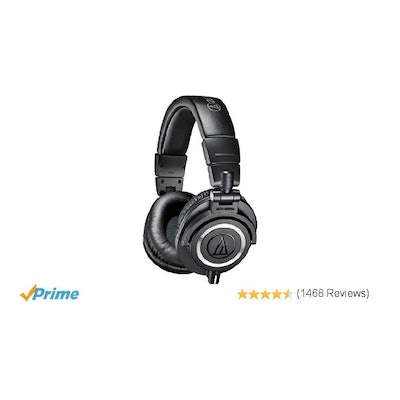 Audio-Technica ATH-M50X Studio Monitor Professional Headphones - Black: Amazon.c