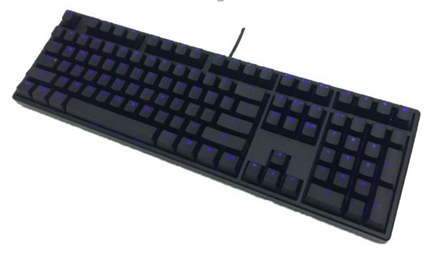 Ducky ONE Blue LED Backlit Mechanical Gaming Keyboard (Brown Cherry MX)
