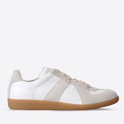 Maison Margiela | 'Replica' Sneakers in Calfskin And Suede in WHITE