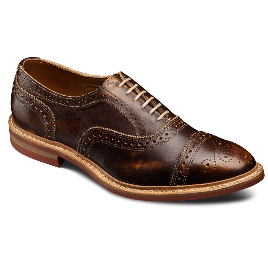 Strandmok - Cap-toe Balmoral Lace-up Oxford Men's Casual Shoes by Allen Edmonds