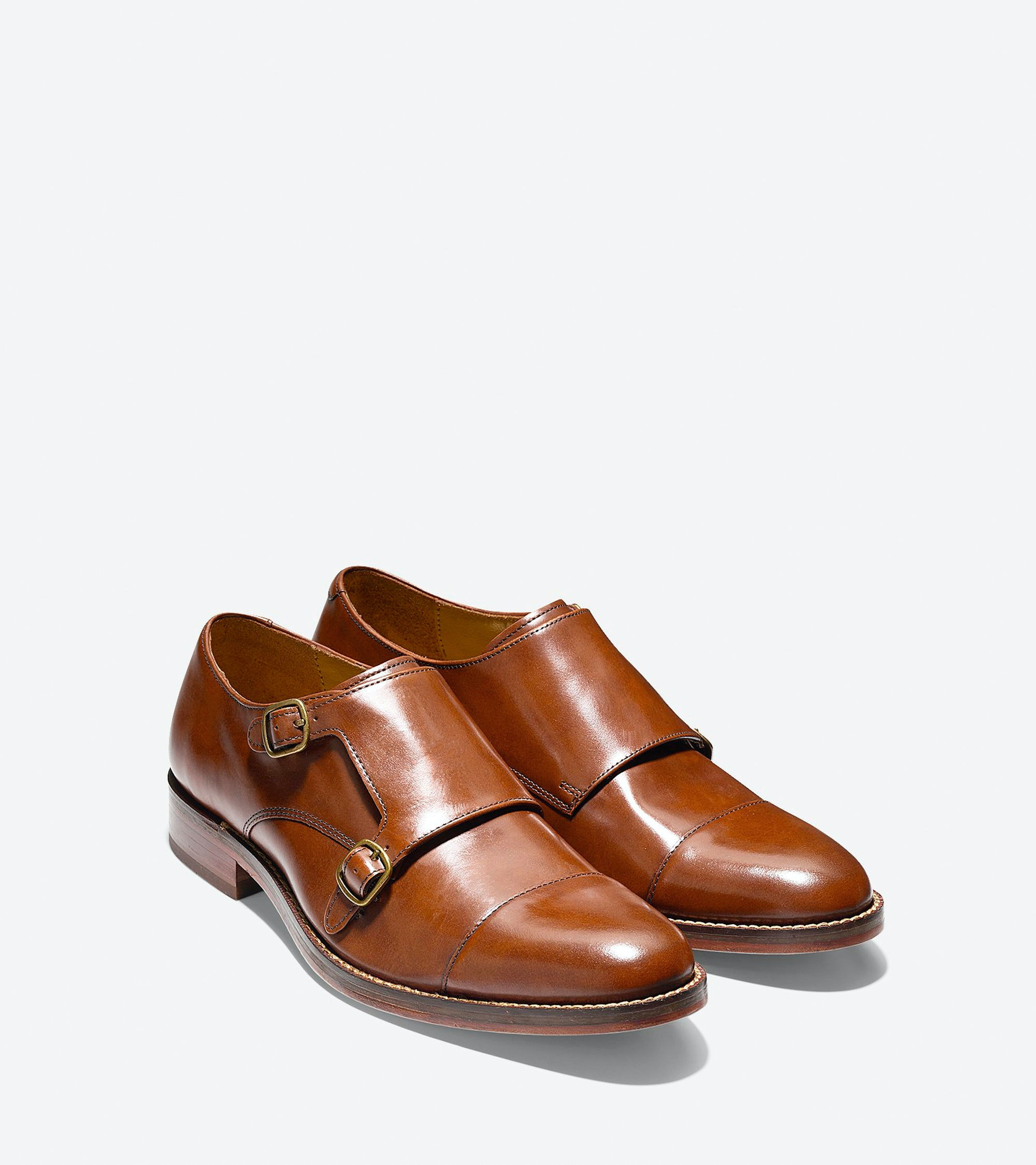 Cole Haan Madison Double Monk Oxford  -  British Tan