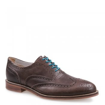DARK BROWN LEATHER DRESS BROGUE OXFORD