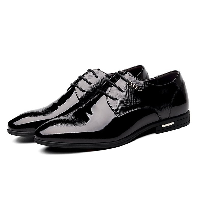 Men's Patent Leather Formal Derby Dress Shoes