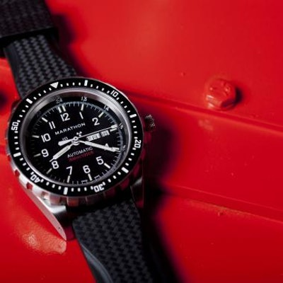 Large Bilingual Diver's Automatic with Day & Date - Marathon Watch