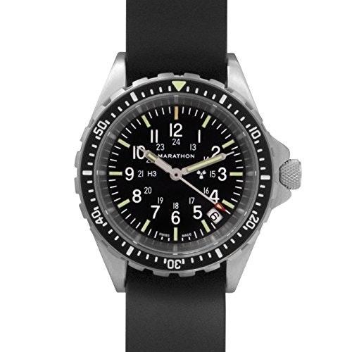 MARATHON WW194027 Swiss Made Military Diver's Medium Watch with Tritium: MARATHO