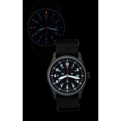H3 GWS G10 Pro Diver Black Military Watch - Direct from militarywatchshop.co.uk