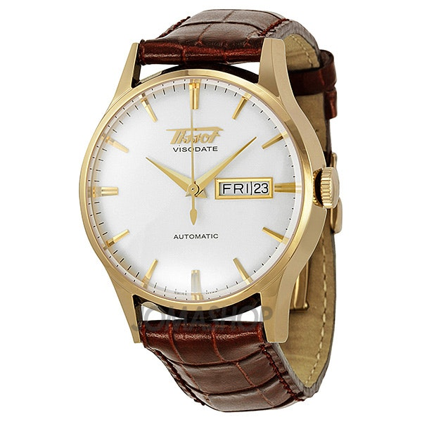 Tissot Men's Visodate Gold-Tone Stainless Steel Watch