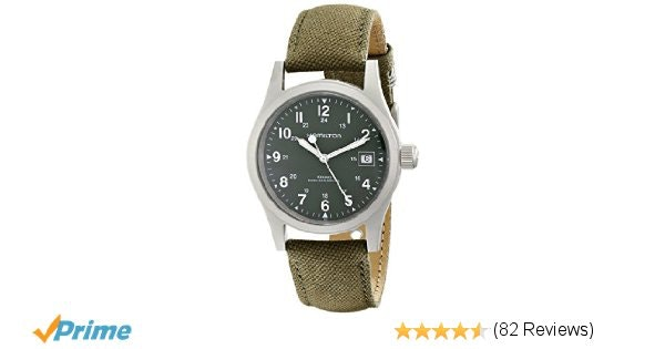 Amazon.com: Hamilton Men's HML-H69419363 Stainless Steel Watch with Khaki Field