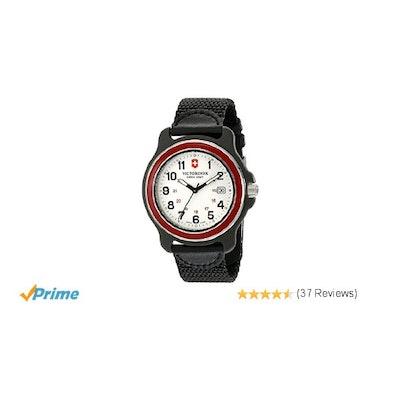 Amazon.com: Victorinox Men's 249085 Original XL Swiss Quartz Watch With Black Ny