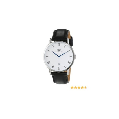Amazon.com: Daniel Wellington Men's Dapper Sheffield 38mm Leather Band Watch, Si