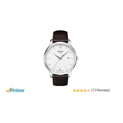 Amazon.com: Tissot T-Classic Tissot Tradition Silver Dial Men's watch #T063.610.