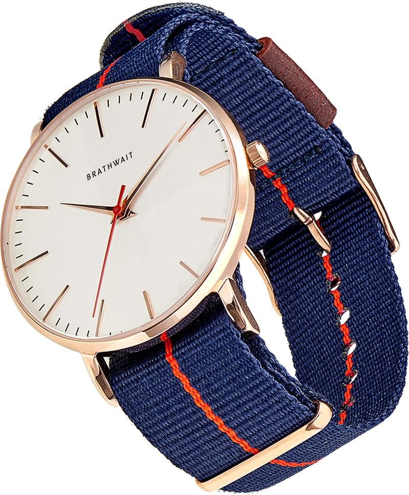 Brathwait - The classic slim wrist watch: Azur strap