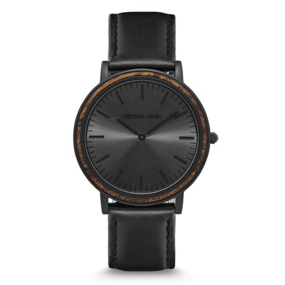 Ebony / Matte Black Minimalist – Original Grain Watches