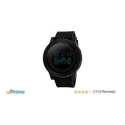 Amazon.com: Aposon Men's Digital Electronic Waterproof LED Sport Watch Casual Qu