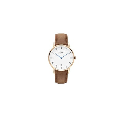 Amazon.com: Daniel Wellington DURHAM Dapper Rose Gold 34mm Watch Brown Leather A