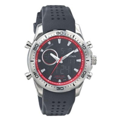 Titan Black Dial Analog Watch For Men-9455SP01