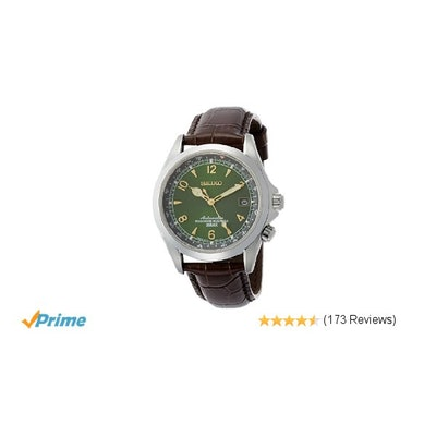 Amazon.com: Seiko Men's SARB017 Mechanical Alpinist Analog  Automatic Self Wind