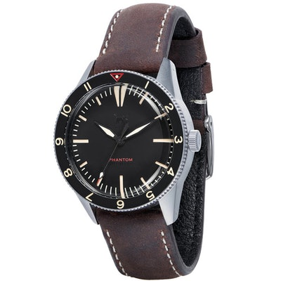 Phantom Men's Black Pilot Wrist WAtch B Dial