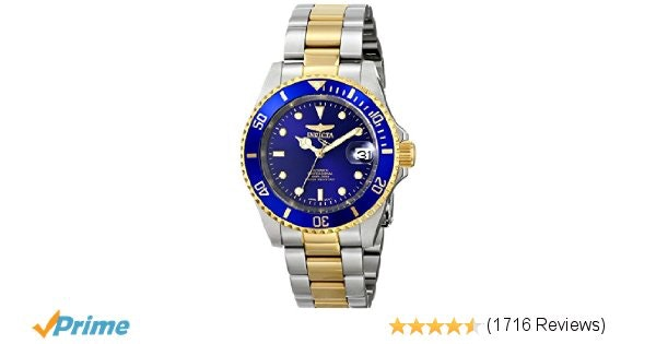 Amazon.com: Invicta Men's 8928OB Pro Diver 23k Gold-Plated and Stainless Steel T