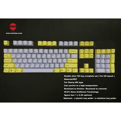 Tai-Hao Sweet Tooth Yellow PBT Keycaps - ISO / NORDIC