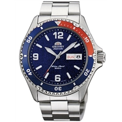 Orient Mako Blue Dial Automatic Dive Watch with Stainless Steel Bracelet #AA0200