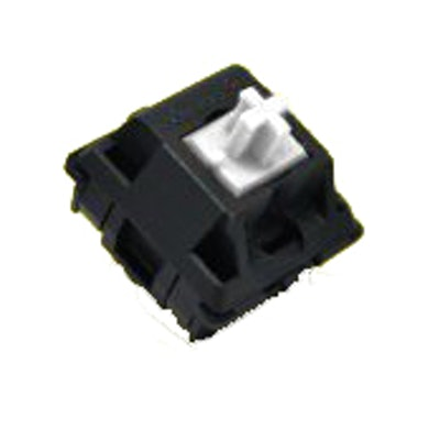 Cherry MX White Keyswitch - Plate Mount - Tactile, Click - 110 Pack by Cherry