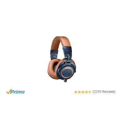 Amazon.com: Audio-Technica ATH-M50xBL Professional Studio Monitor Headphones: Mu