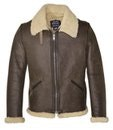 Men's Shearling Leather Jacket - Schott NYC