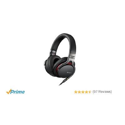 Amazon.com: Sony MDR1A Premium Hi-Res Stereo Headphones (Black): Home Audio & Th