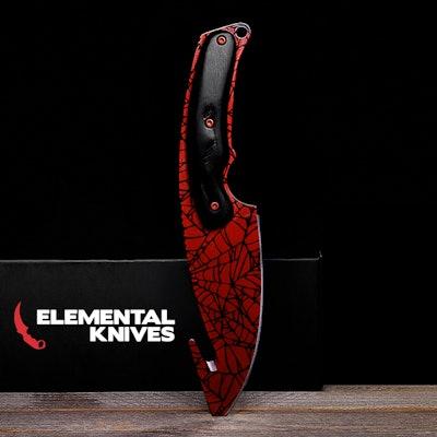 Real Gut Knife Crimson Web - Elemental Knives