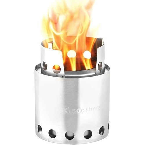 The Solo Stove Lite is a lightweight and compact wood burning stove designed to