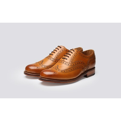 Stanley Brogues, Tan Brogues, Men's Shoes, Leather Shoes.