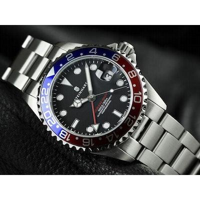 Steinhart Watches - Ocean One 39 GMT Blue/Red